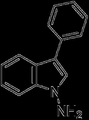 1-Amino-3-phenylindole - Image: 1 Amino 3 phenylindole