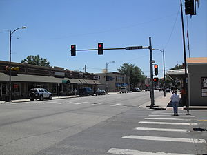 Cleveland Ave in downtown Loveland, CO