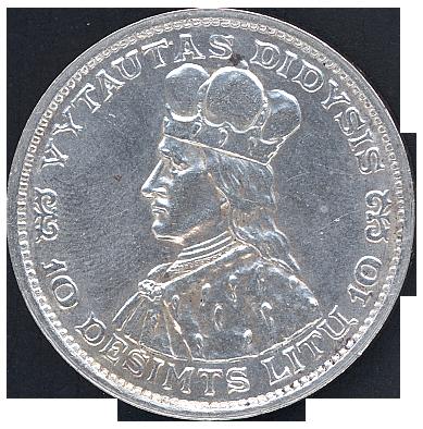 10 LT 1936 A Vytautas