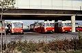110L02221083 Bereich Endstelle der U Bahn Linie U1, Ostseite, Busgarage, Bus, Typ LU 8693, Bus Linie 26A, Typ GU230 8086, Bus Typ GU230 8022.jpg