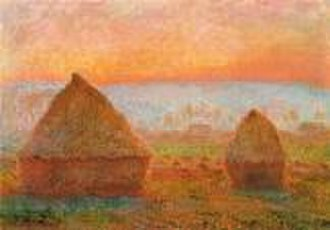 Haystacks (Monet series) - Image: 1213 Grainstacks at Giverny sunset