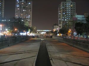 Shan Pui River passing through Yuen Long Town