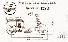 Lambretta 125 del 1947 Design di Cesare Pallavicino