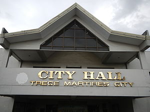 Trece Martires - City hall facade