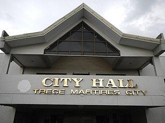 Trece Martires - City hall facade