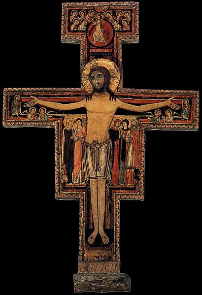 File:13th-century unknown painters - Crucifix of San Damiano - WGA23868.jpg