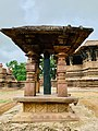 13th century Ramappa temple foundation inscription pillar, Sanskrit, Palampet Telangana - 01.jpg