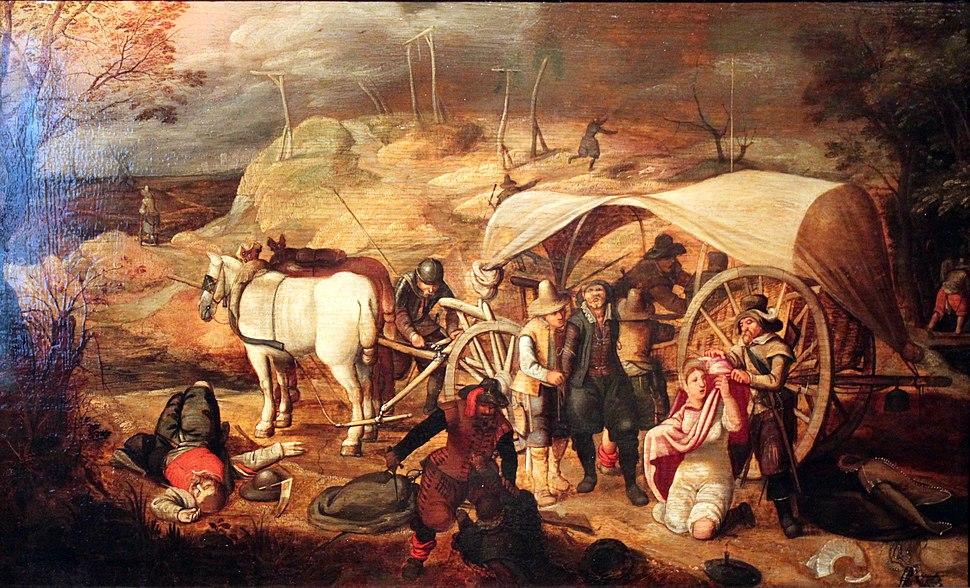 1647 Vrancx Marauding soldiers anagoria