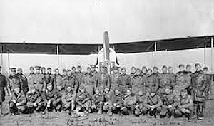 166th Aero Squadron - Members of the 166th Aero Squadron in front of a Dayton-Wright DH-4