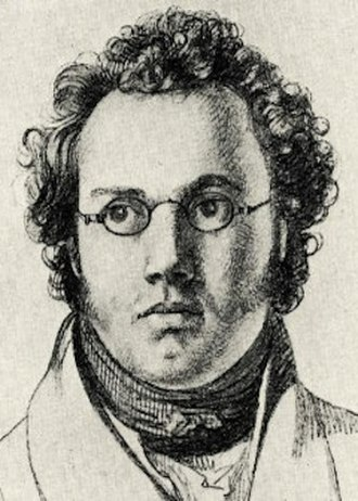 Trout Quintet - 1821 drawing of Franz Schubert by Josef Kupelwieser