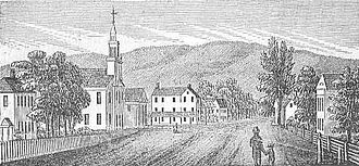 Sheffield, Massachusetts - View of Sheffield in 1839