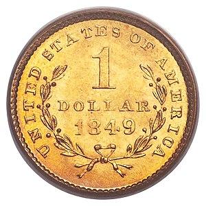 Gold dollar - Open wreath