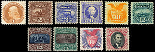 1869 Pictorial Issue 1869 American postage stamp series