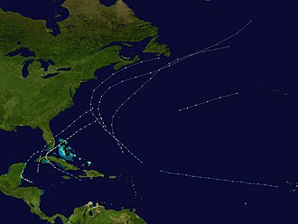 1870 Atlantic hurricane season - Image: 1870 Atlantic hurricane season summary