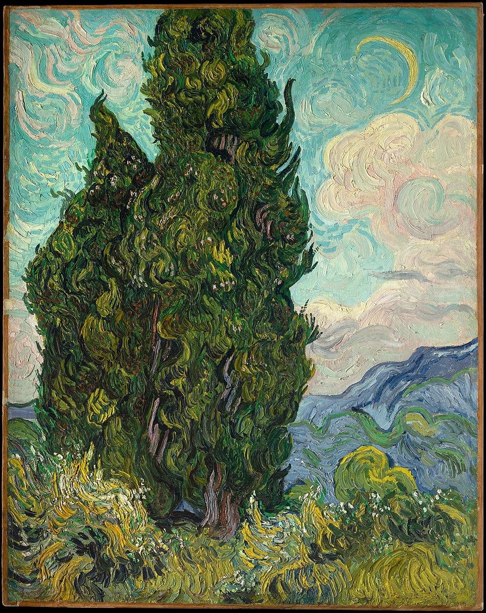1889 Vincent van Gogh Zypressen anagoria