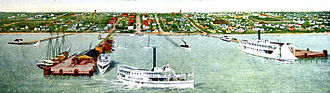 St. Petersburg Pier - 1906 postcard of the Electric Pier and Municipal Pier by W.L. Straub of St. Petersburg
