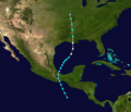 1923 Atlantic hurricane 6 track.png