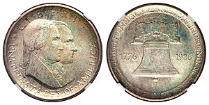 United States Sesquicentennial coinage - Image: 1926 50C Sesquicentennial