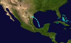 1947 Atlantic hurricane season - Image: 1947 Atlantic tropical storm 1 track