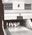 19610701 Penguin bowling pins at inauguration of McMurdo Station, Antarctica, bowling alley.jpg