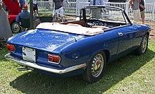 rear three-quarters view of a 1966 giulia gtc