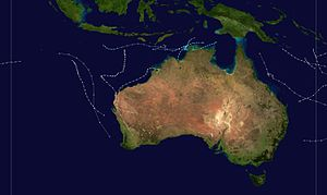 1974–75 Australian region cyclone season - Image: 1974 1975 Australian cyclone season summary