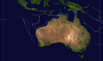 1974–75 Australian region cyclone season - Image: 1974 1975 Australian cyclone season summary