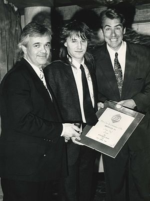 Julian Rignall - Rignall at the 1990 Golden Joystick Awards