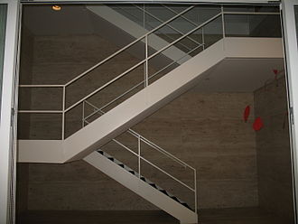 Arts Club of Chicago - Mies van der Rohe staircase and Alexander Calder mobile