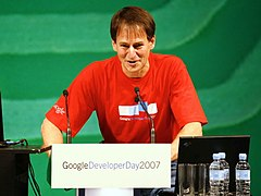 Alan Noble, Engineering Director of Google Australia and New Zealand, participated in 2007 & 2008 Google Developer Day.Image: Charlie Brewer.