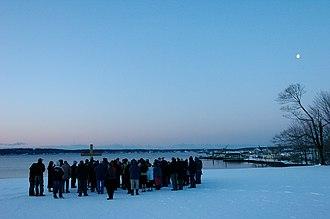 Sunrise service - Sunrise service in Rockland, Maine.