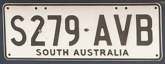 Vehicle registration plates of South Australia - Current South Australia registration plate