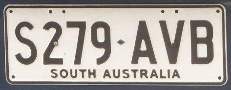 2009 South Australia registration plate S279♦AVB