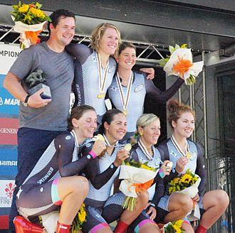 United States at the UCI Road World Championships - Image: 2013 UCI Road World Championships, women's TTT, team specialized lululemon