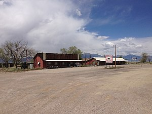 Schellbourne, Nevada - Image: 2014 05 21 13 16 44 Buildings remaining in Schellbourne, Nevada