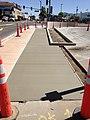 2014-06-12 10 38 10 Fresh sidewalk along U.S. Route 95 (West Winnemucca Boulevard) near Melarkey Street and Nevada State Route 289 (Winnemucca Boulevard) in Winnemucca, Nevada.JPG