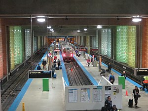 Chicago Transit Authority - Blue Line terminal in O'Hare International Airport.