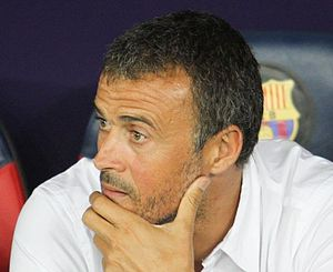 Luis Enrique (footballer) - Luis Enrique managing Barcelona in 2015