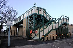 2015 at Chippenham station - new footbridge nearly finished.JPG