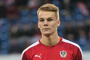 Philipp Lienhart - Lienhart with Austria U21 in 2016