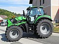 2017-09-23 (123) Deutz-Fahr tractor positioned in the entrance area of Dirndlkirtage to prevent attacks, as in Nice on July 14, 2016.jpg
