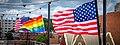 2017.07.02 Rainbow and US Flags Flying Washington, DC USA 7194 (35542362801).jpg