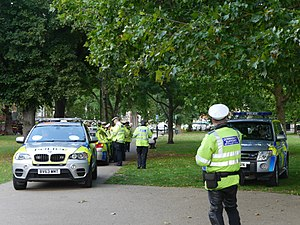 2017 Parsons Green bombing - Police on Parsons Green, following the bombing