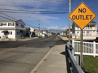 West Wildwood, New Jersey - CR 614 entering West Wildwood