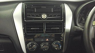 Automotive head unit - A facelifted Toyota Vios, the local dealer used the head unit includes disc player, Bluetooth, auxilary cable, USB and radio