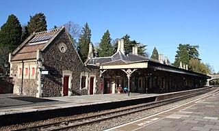 Great Malvern railway station grade II listed train station in Great Malvern, United kingdom