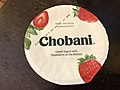 2019-01-31 21 30 02 The top of a cup of Chobani Greek Yogurt with Strawberry on the Bottom before being opened in the Franklin Farm section of Oak Hill, Fairfax County, Virginia.jpg