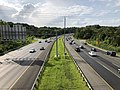 2019-07-24 17 15 54 View west along Interstate 695 (Baltimore Beltway) from the overpass for U.S. Route 1 (Belair Road) in Overlea, Baltimore County, Maryland.jpg