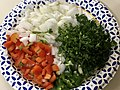 2020-04-12 19 00 28 Jalapeno, red pepper, onion and parsley on a paper plate in the Franklin Farm section of Oak Hill, Fairfax County, Virginia.jpg