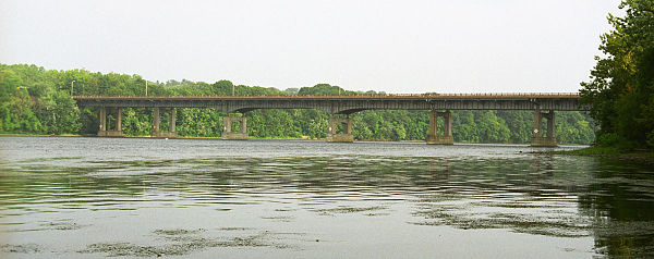 The Enfield-Suffield Veterans Bridge over the Connecticut River between Enfield and Suffield, Connecticut